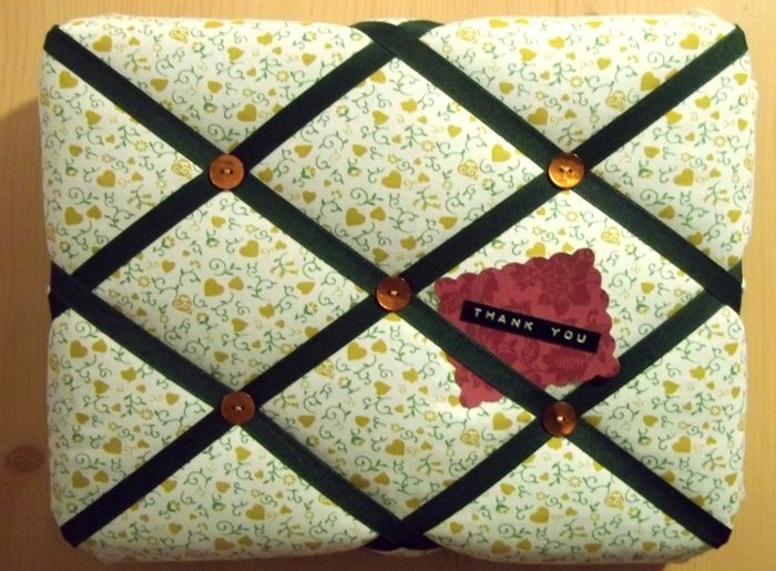 Things To Make And Do Fabric Covered Notice Board Extraordinary Padded Memo Board