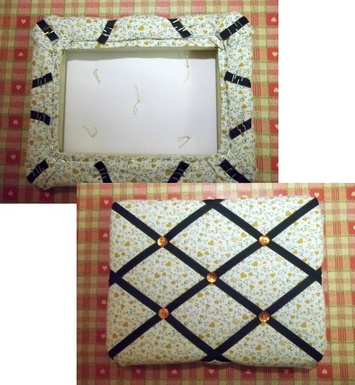 Things To Make And Do Fabric Covered Notice Board Best Padded Memo Board