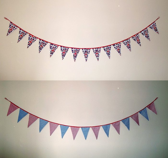Things To Make And Do Reversible Fabric Bunting