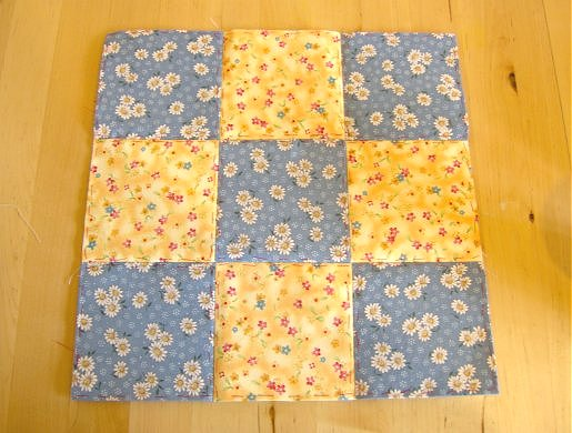 Things to make and do - patchwork: Nine Patch block