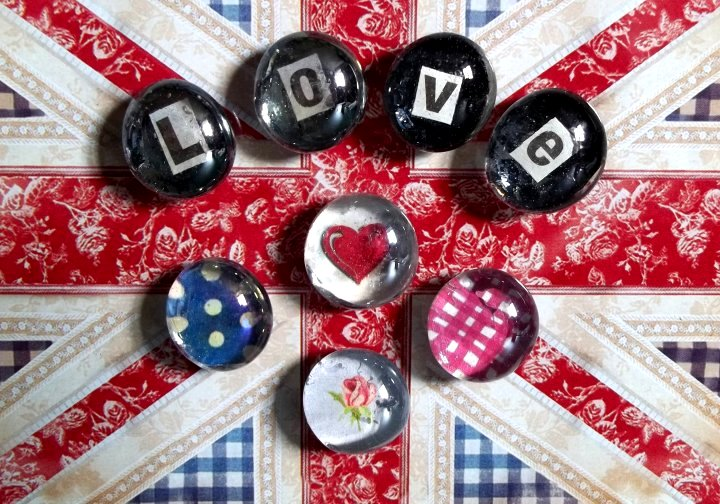 Things To Make And Do Glass Pebble Picture Magnets