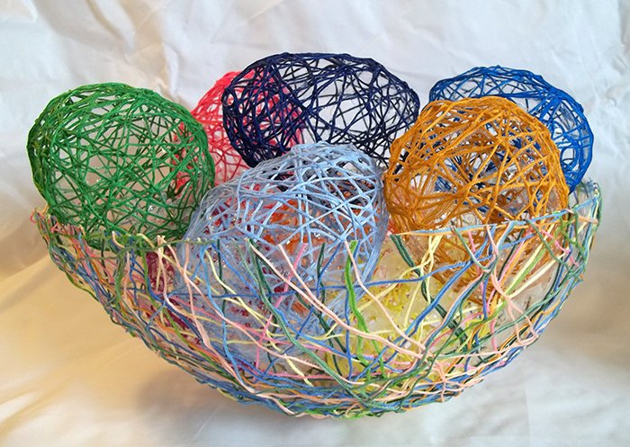 things to make and do make string eggs