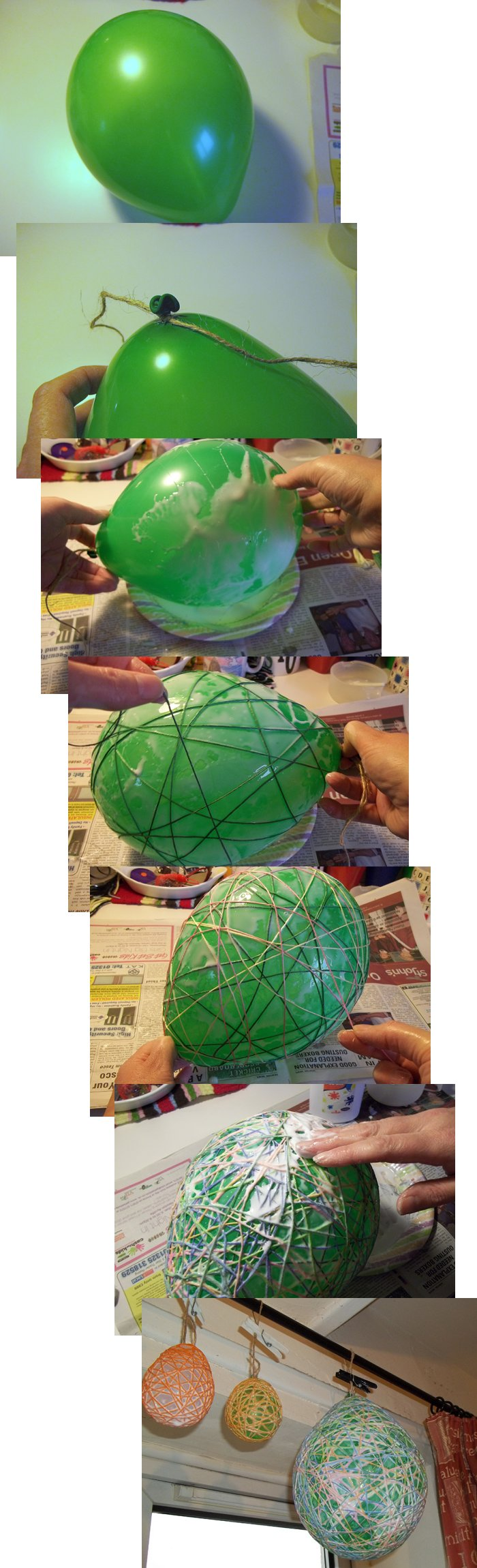 Things To Make And Do  String Eggs