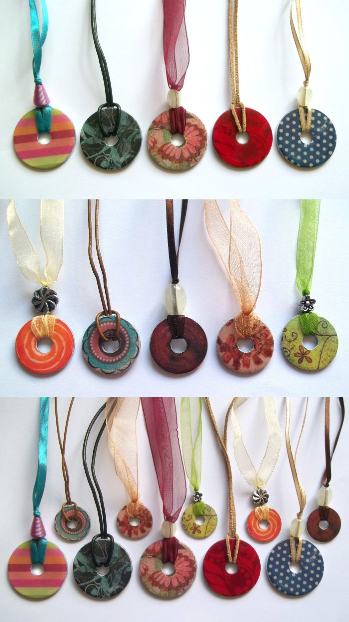 Things to make and do washer necklace - How to make handicraft things ...