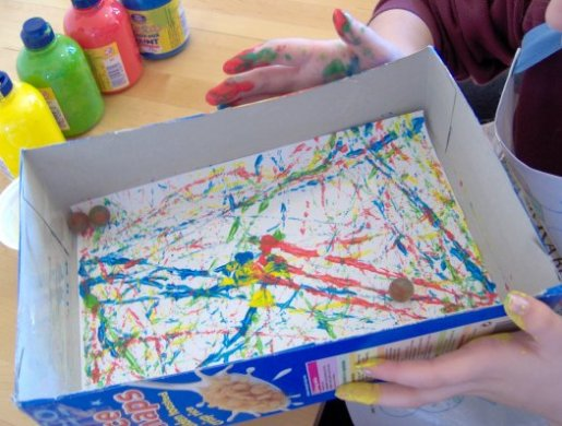 Things To Make And Do Marble Painting