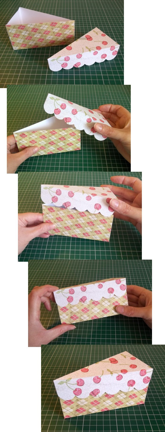 Things to make and do cake slice box for How to make paper stuff