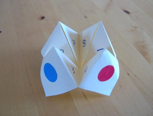 Creative teacherette fortune teller for Cool things to make and do