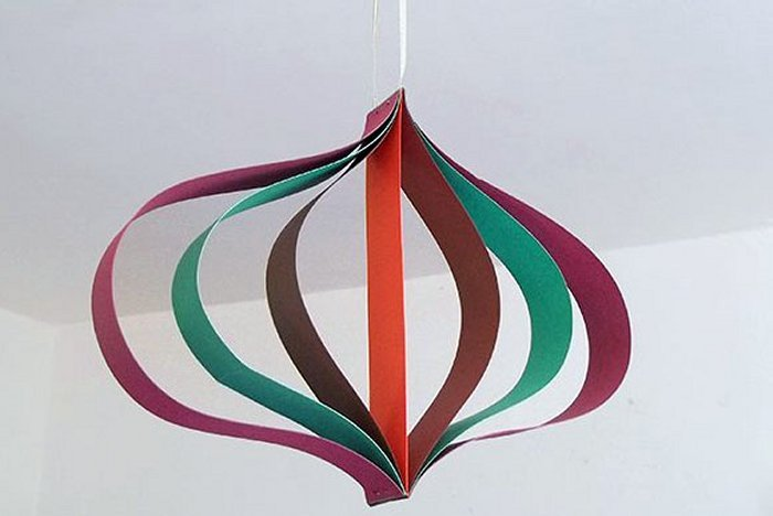 Things to make and do curved paper hanging decoration for Things to make with paper