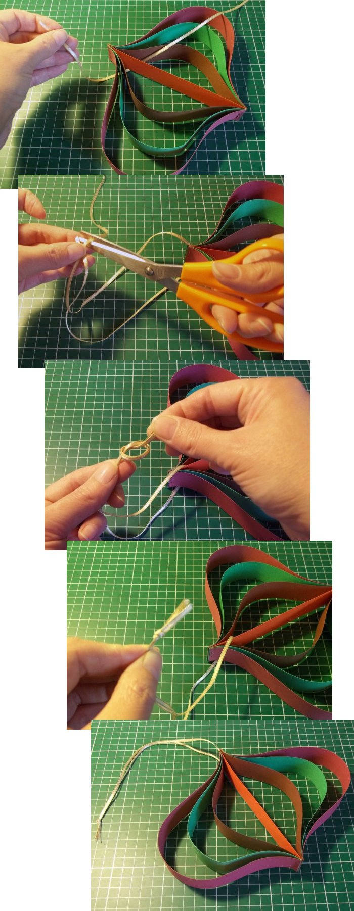Things to make and do   Curved Paper hanging decoration. Things to Make and Do   Curved Paper hanging decoration