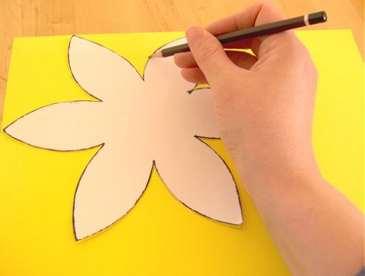template of a daffodil - things to make and do make a daffodil