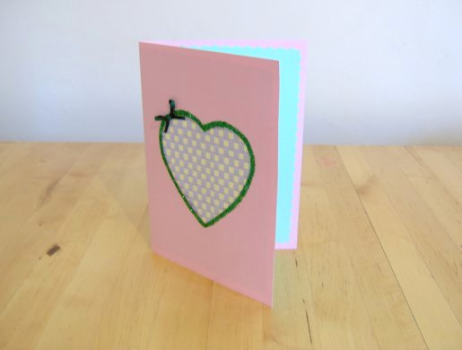 paper weaving – make a greetings card
