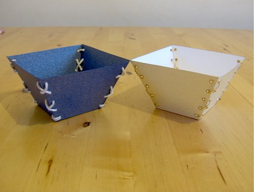 Things to make and do laced trinket trays for Things to make with paper